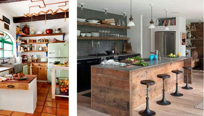 cocinas americanas de madera