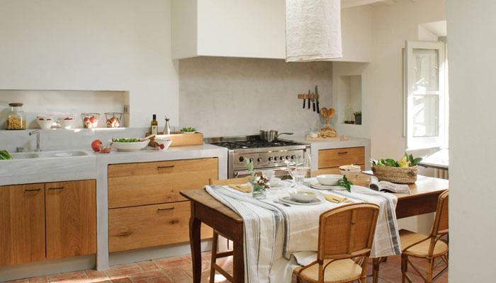 diseño de cocinas rústicas