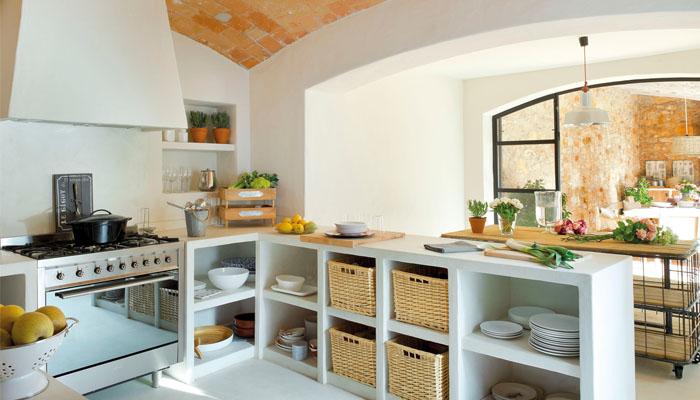 consejos para diseñar cocinas rústicas