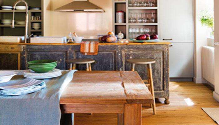 ideas de decoración de una cocinas rústicas