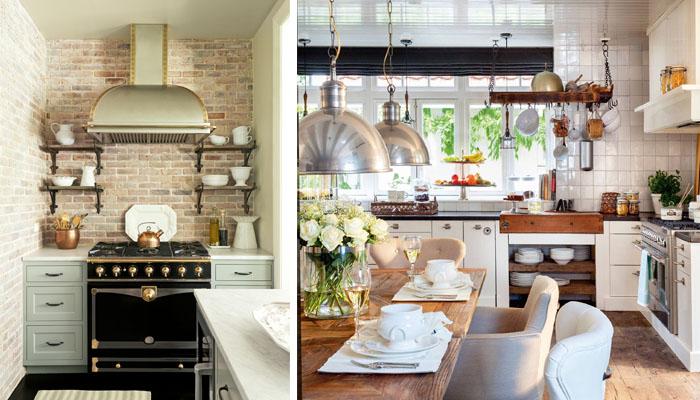 la iluminación y las cocinas rústicas