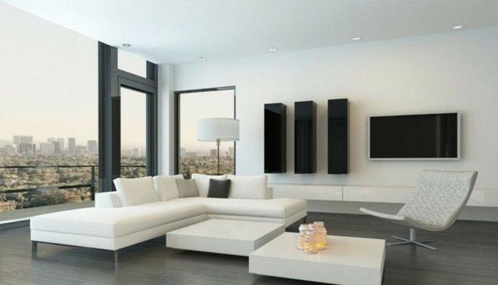 decoración de salón minimalista