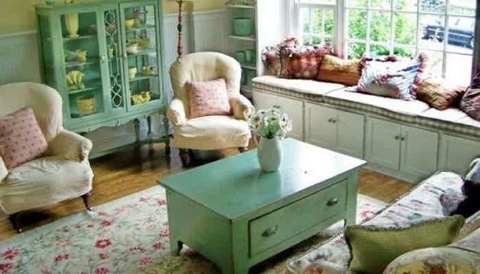 decoración de salones  estilo vintage