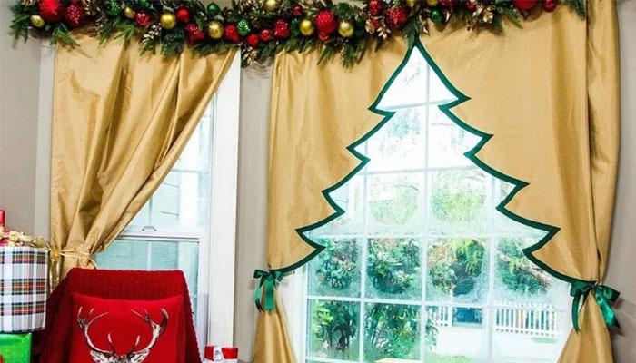 cortinas salón Navidad
