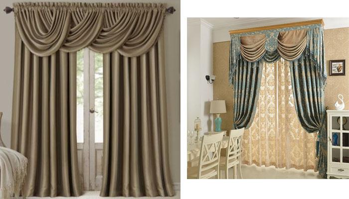 cortinas salón elegantes