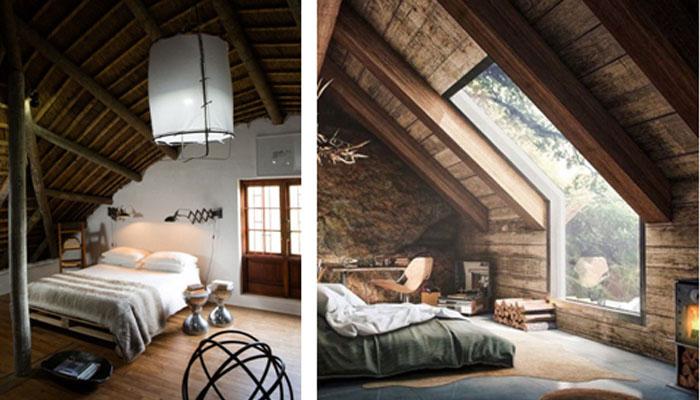 dormitorio de casas rurales