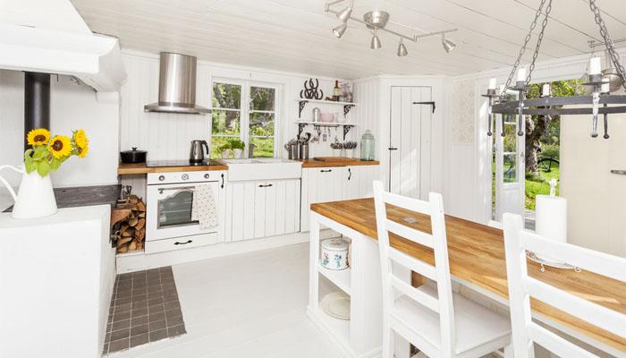 la belleza de las cocinas blancas