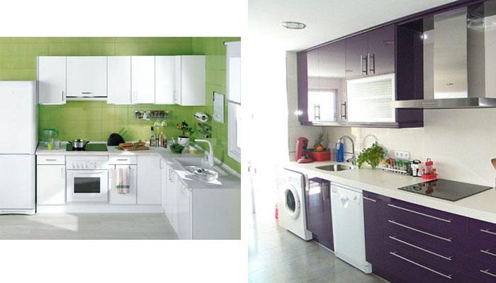 combinación de colores con las cocinas blancas