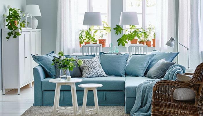 Sofás de IKEA modelos tipos, tejidos y estilos