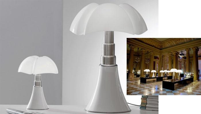 Diseño icónico la lámpara Pipistrello de Martinelli Luce