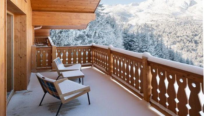 Estilo alpino de este nuevo hotel en Meribel