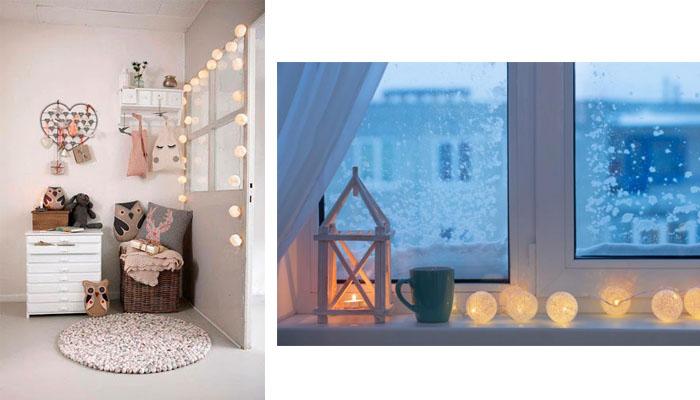 Ideas de decoración con guirnaldas luminosas